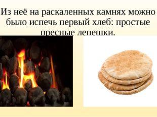 Из неё на раскаленных камнях можно было испечь первый хлеб: простые пресные л