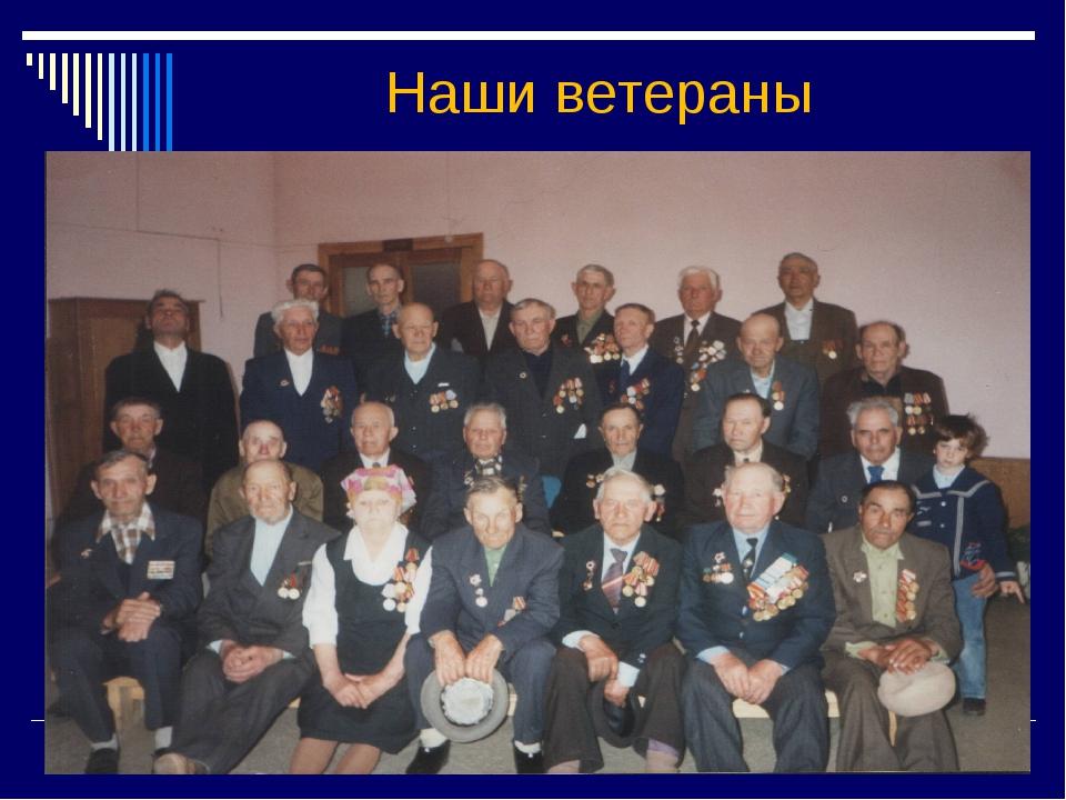 Наши ветераны