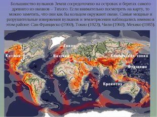 Большинство вулканов Земли сосредоточено на островах и берегах самого древнег