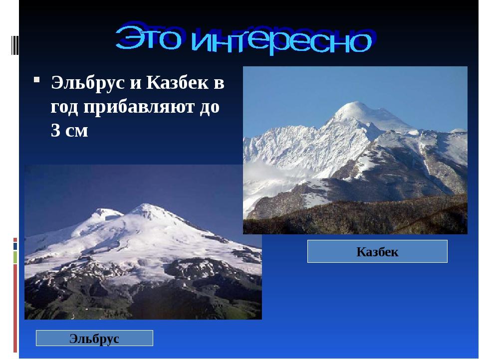 Эльбрус и Казбек в год прибавляют до 3 см Эльбрус Казбек