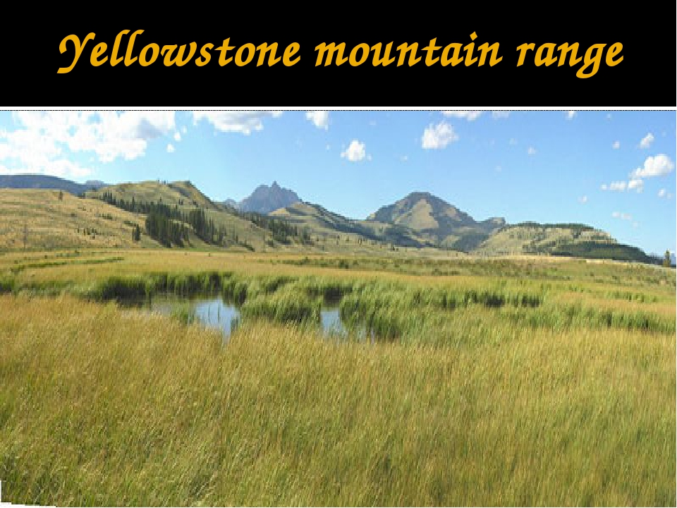 Yellowstone mountain range