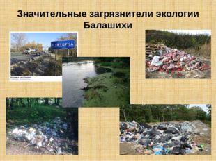 Значительные загрязнители экологии Балашихи