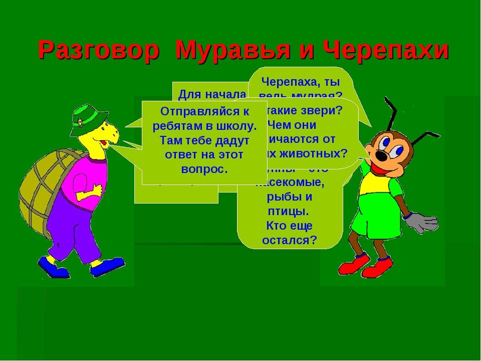 Разговор Муравья и Черепахи Для начала тебе достаточно познакомиться с четырь...