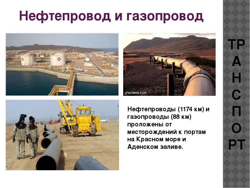 Нефтепровод и газопровод ТРАНСПОРТ Нефтепроводы (1174 км) и газопроводы (88 к...