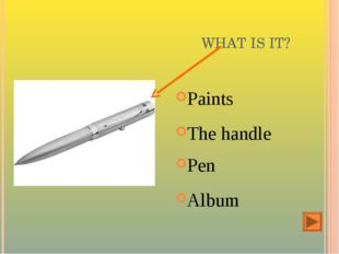 WHAT IS IT? Paints The handle Pen Album