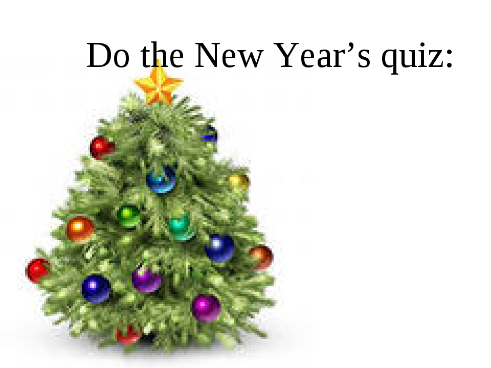 Do the New Year's quiz: