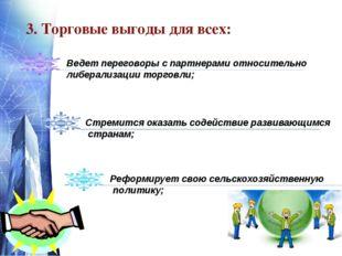 www.themegallery.com 3. Торговые выгоды для всех: Ведет переговоры с партнера