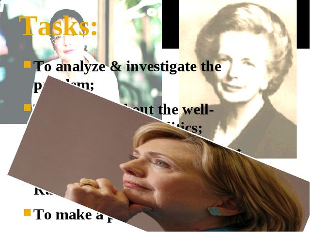 Tasks: To analyze & investigate the problem; To tell you about the well- know...