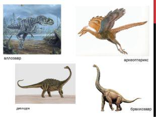 аллозавр археоптерикс диплодок брахиозавр