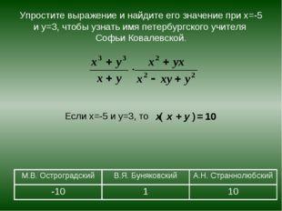 Упростите выражение и найдите его значение при х=-5 и у=3, чтобы узнать имя п