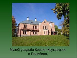 Музей-усадьба Корвин-Круковских в Полибино.