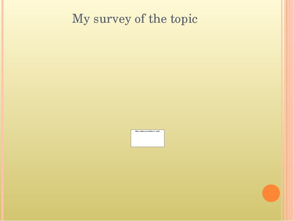 My survey of the topic
