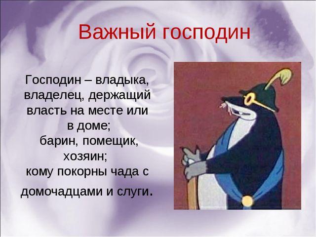 Господин – владыка, владелец, держащий власть на месте или в доме; барин, пом...