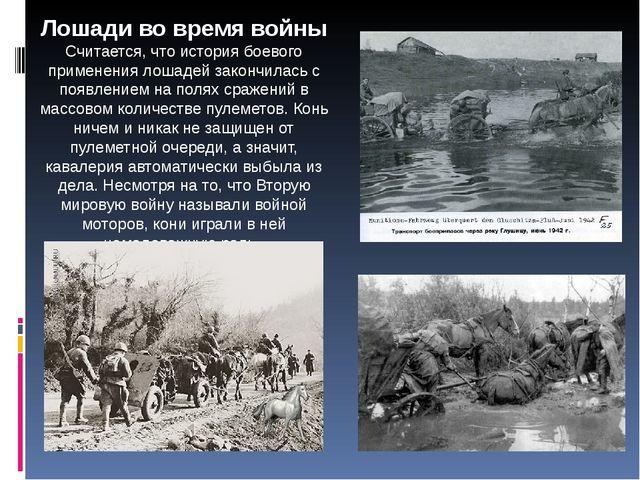 Лошади во время войны Считается, что история боевого применения лошадей закон...