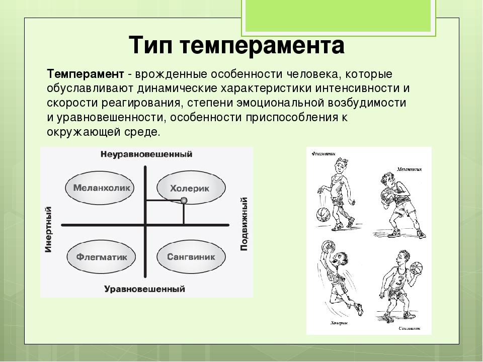 Темперамент - врожденные особенности человека, которые обуславливают динамиче...