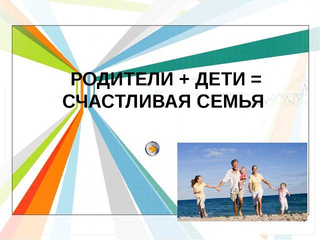 РОДИТЕЛИ + ДЕТИ = СЧАСТЛИВАЯ СЕМЬЯ L/O/G/O www.themegallery.com