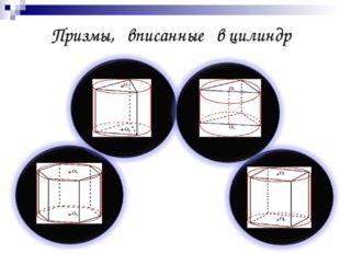 Призмы, вписанные в цилиндр