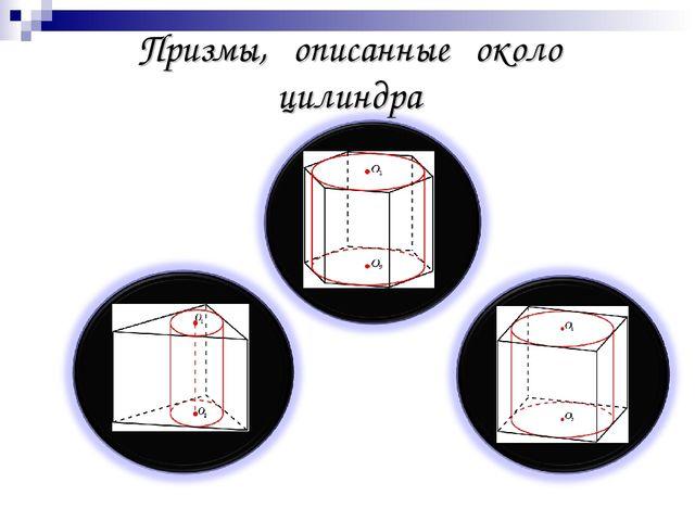 Призмы, описанные около цилиндра