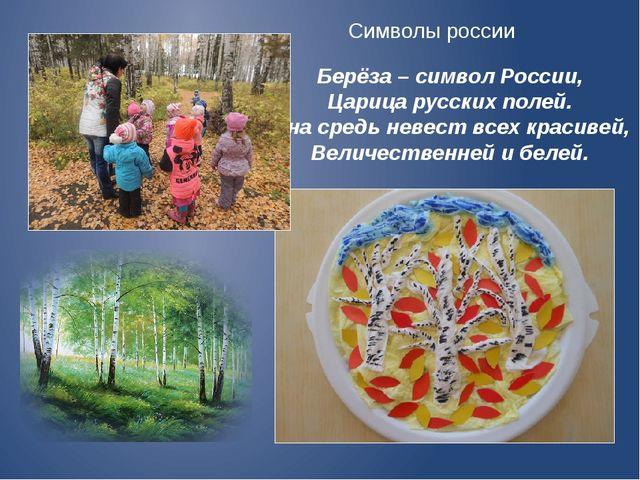 Берёза – символ России, Царица русских полей. Она средь невест всех красивей,...