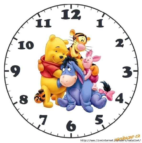 Детские часы в картинках своими руками