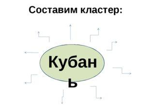 Кубань Составим кластер: