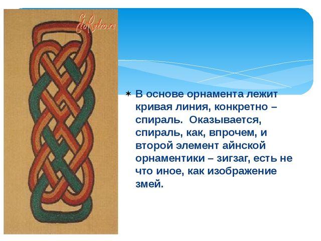 В основе орнамента лежит кривая линия, конкретно – спираль. Оказывается, спи...