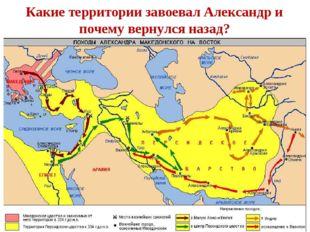 Какие территории завоевал Александр и почему вернулся назад?