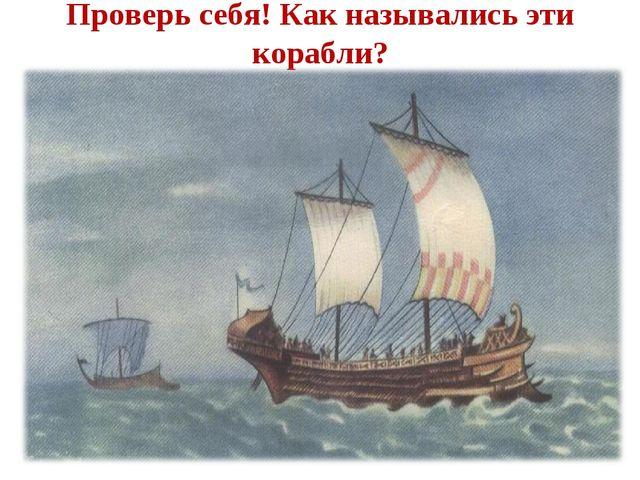 Проверь себя! Как назывались эти корабли?