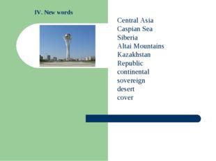 Central Asia Caspian Sea Siberia Altai Mountains Kazakhstan Republic continen