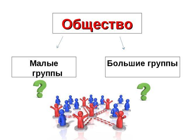 Общество Малые группы Большие группы