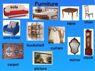 Furniture sofa bed chair carpet picture clock mirror curtain table arm-chair