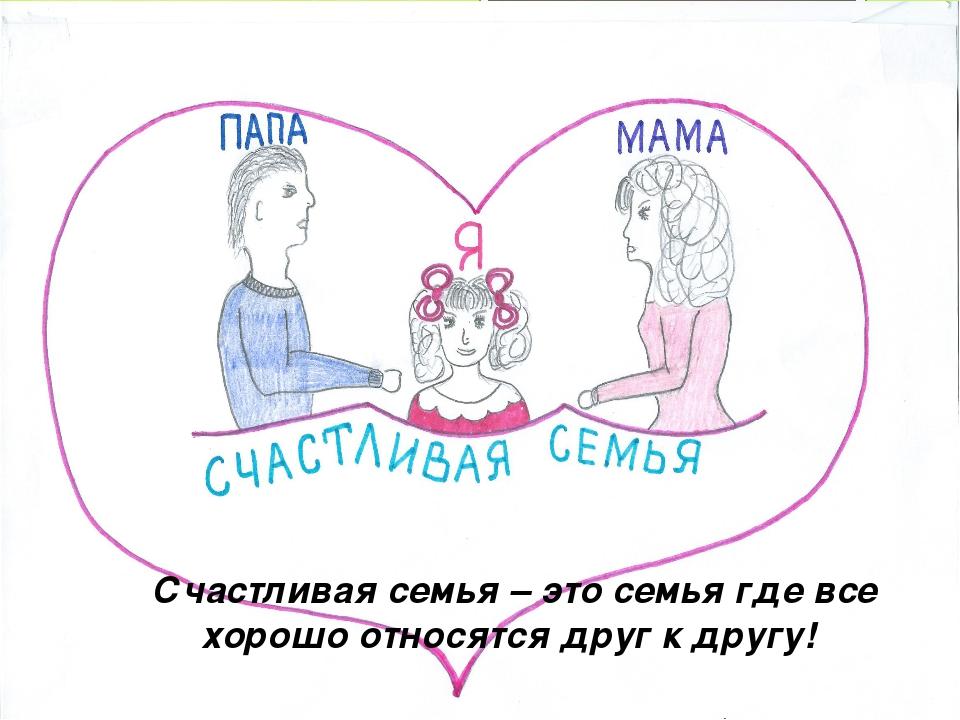 Счастливая семья – это семья где все хорошо относятся друг к другу!