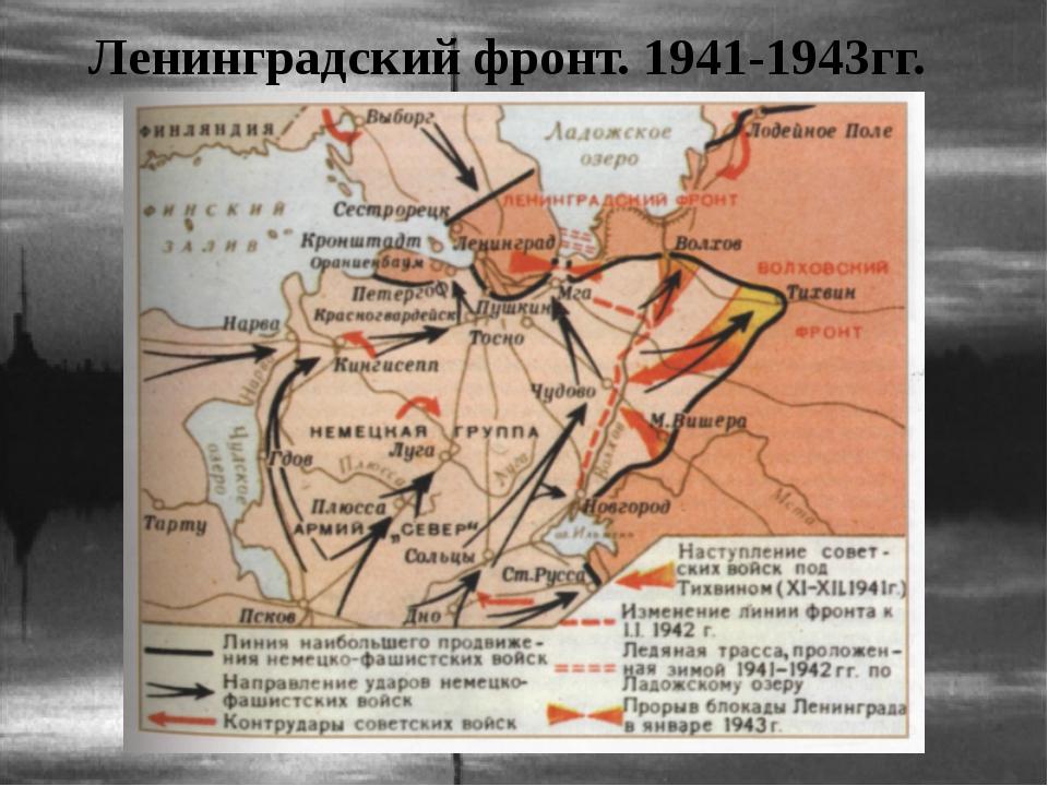 Ленинградский фронт. 1941-1943гг.