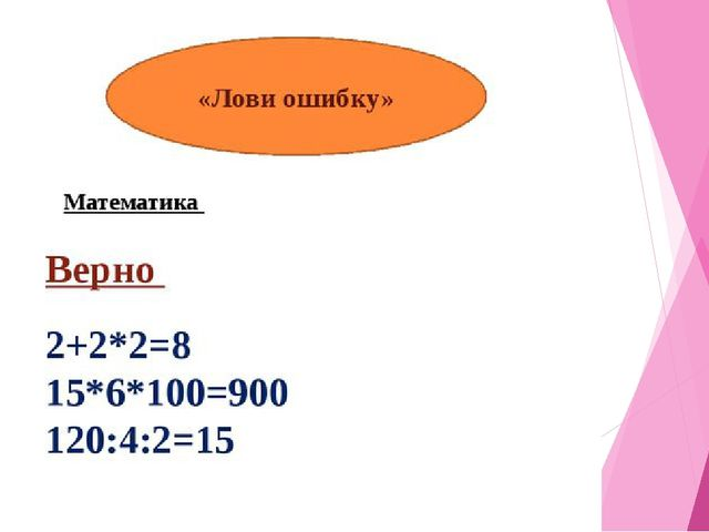 Задания для групп Математика 2+2+2=8 15-6+100=900 120+4+2=15