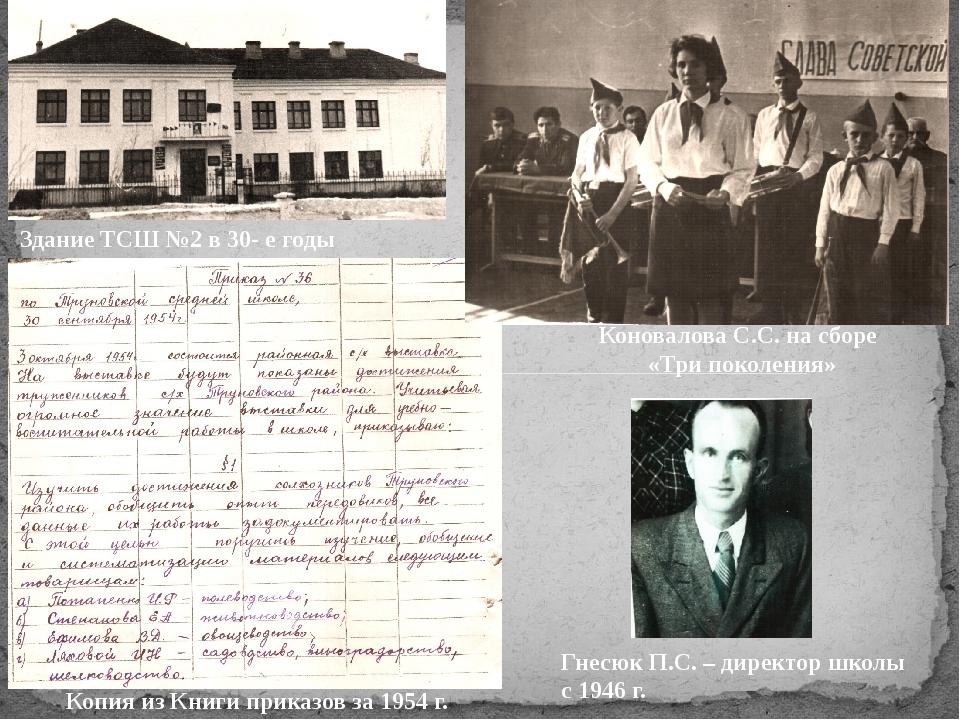 Здание ТСШ №2 в 30- е годы Коновалова С.С. на сборе «Три поколения» Копия из...