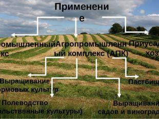 Применение Агропромышленный комплекс (АПК) Лесопромышленный комплекс Приусаде