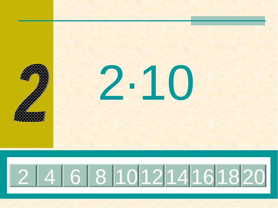 2·10 20 4 6 8 10 12 14 16 18 2