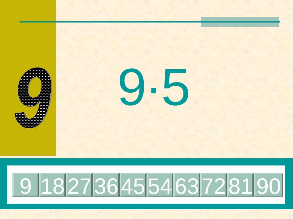 9·5 45 18 27 36 9 54 63 72 81 90