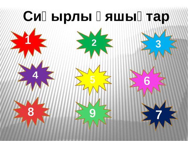 1 2 4 3 5 6 7 8 9 Сиқырлы ұяшықтар