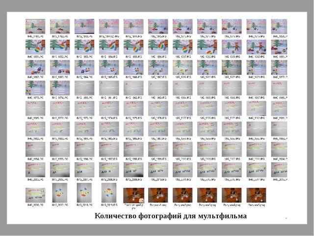Количество фотографий для мультфильма