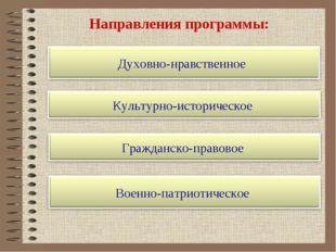 Направления программы: