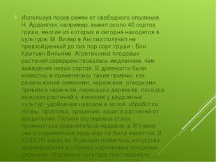 Используя посев семян от свободного опыления, Н. Арданпон, например, вывел о