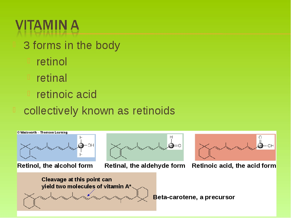 3 forms in the body retinol retinal retinoic acid collectively known as retin...