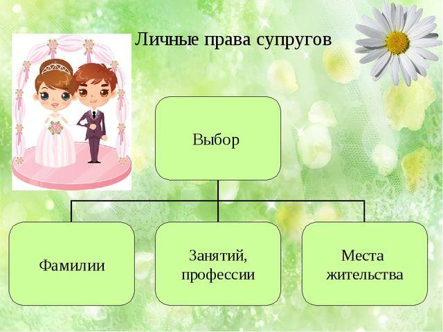 Личные права супругов