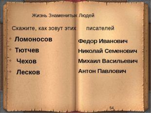 Жизнь Знаменитых Людей Скажите, как зовут этих писателей Федор Иванович Никол