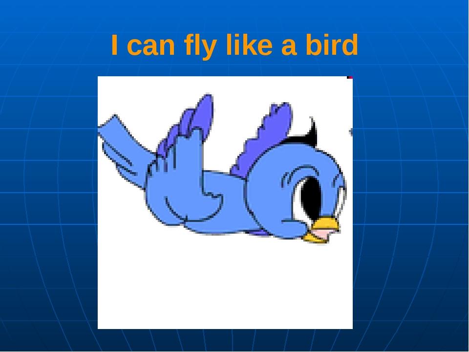 I can fly like a bird