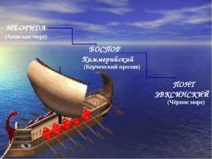 МЕОТИДА БОСПОР Киммерийский ПОНТ ЭВКСИНСКИЙ (Азовское море) (Керченский проли