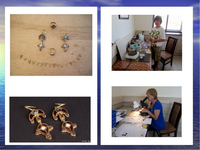 Гунчина Ольга реставратор В чём различие у серег на двух снимках?
