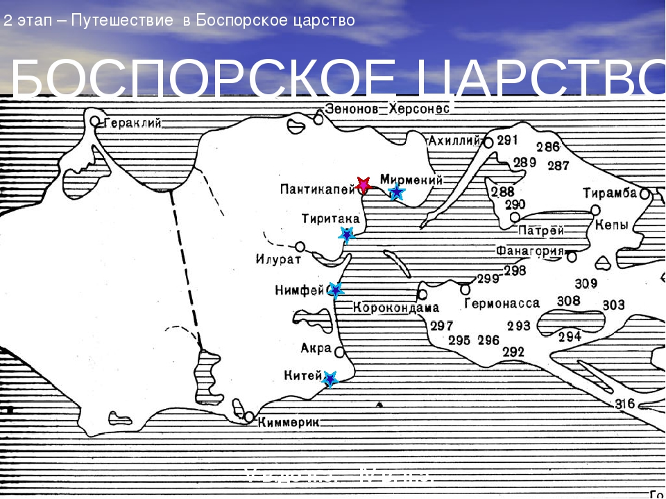 БОСПОРСКОЕ ЦАРСТВО V в.до н.э. – IV в. н.э. 2 этап – Путешествие в Боспорско...