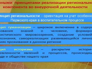 Принцип региональности – ориентация на учет особенностей Пермского края в вос